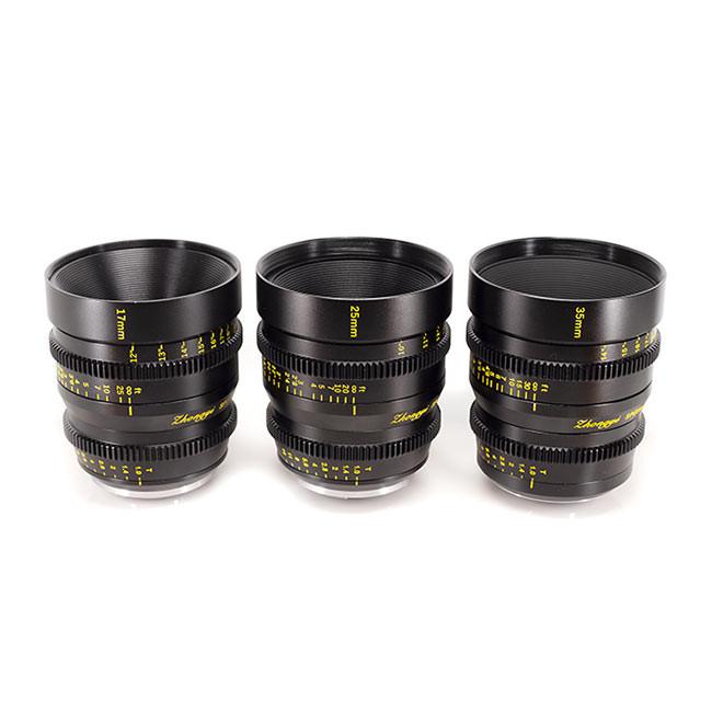 Mitakon 17mm, 25mm, 35mm M4/3 Lens Set with Hard Case
