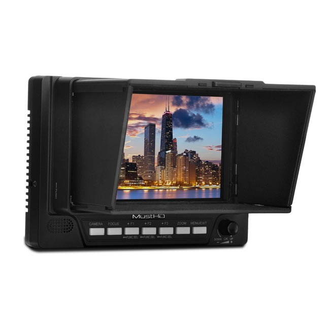 "MustHD 5"" LCD HDMI On-camera Field Monitor with Focus Assist and False Color"