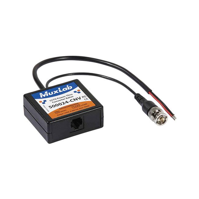 MuxLab CCTV Power-Thru Converter Balun (24VAC-To-12VDC)
