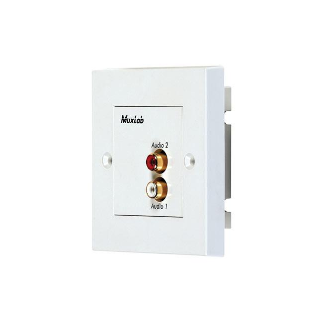 MuxLab Stereo Hi-Fi Wall Plate Balun (UK)