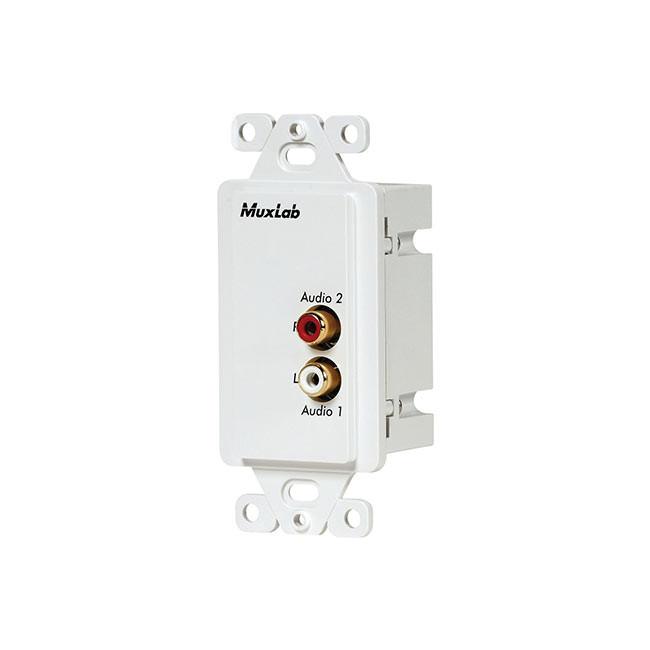 MuxLab Stereo Hi-Fi Wall Plate Balun (US)