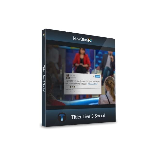 NewBlue Titler Live 3 Social ESD