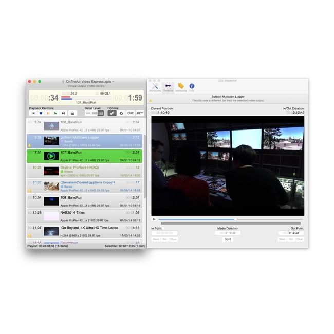 Softron OnTheAir Video Express to Node