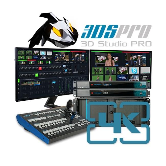 Reckeen 3DSPro 4K, 12G-SDI Virtual Studio Workstation
