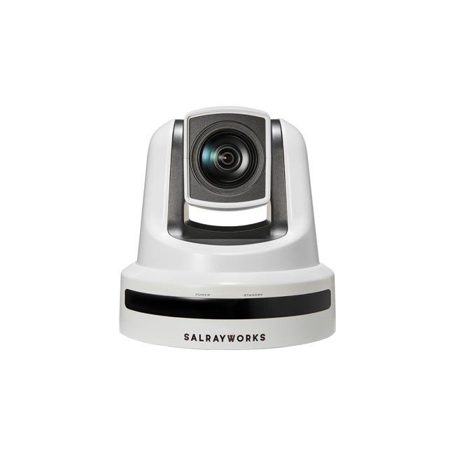 Salrayworks 1/2.8'' Exmor R CMOS Sensor PTZ Camera (Optical Zoom: 20x / Digital Zoom: 12x / Genlock, White)