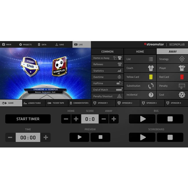 Streamstar ScorePLUS Module for Professional Soccer (Perpetual Licence)