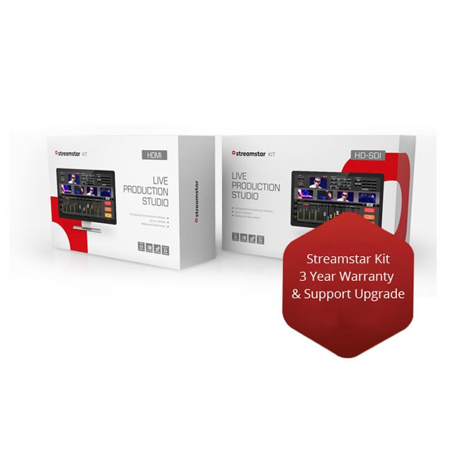 Streamstar Kit - 3 Year Warranty and 1 Year Support Upgrade