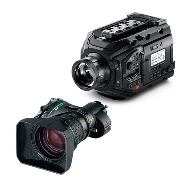 Blackmagic Design URSA Broadcast Camera & Fujinon 5BERM-K3 MS-01 Semi Servo Rear Control Accessory Kit