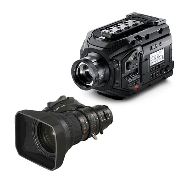 Blackmagic URSA Broadcast Camera & Fujinon MS-01 Semi Servo Rear Control Accessory Kit