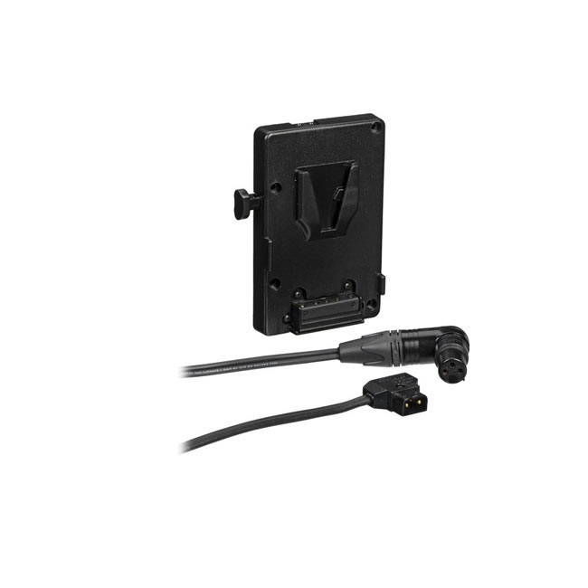Litepanels Astra 1x1 V-Mount Battery Bracket with P-Tap to 3-pin XLR Cable