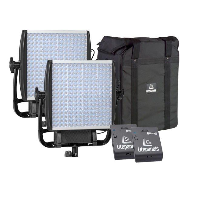 Litepanels Two Astra 4X Daylight LED Panels with Two FREE Bluetooth Modules & FREE Dual Carrying Case