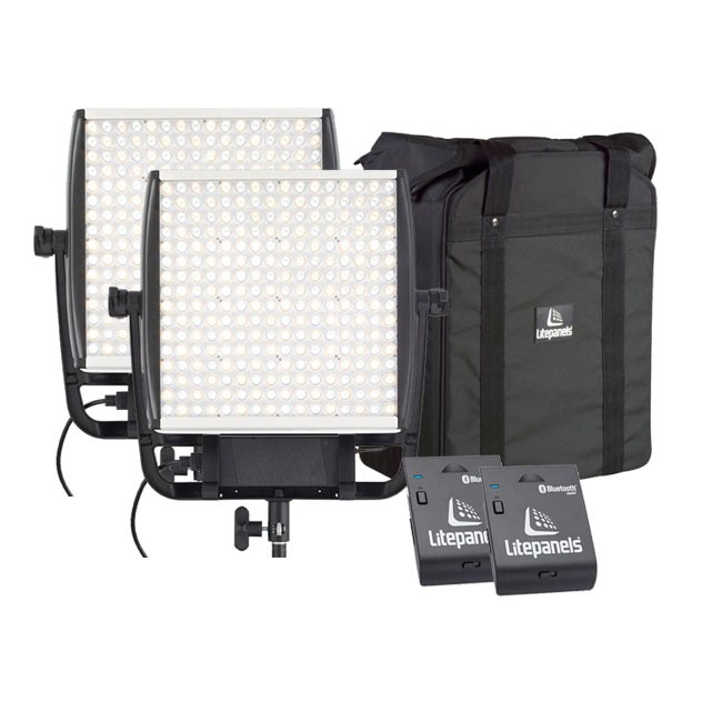 Litepanels Two Astra 4X Bi-Color LED Panels with Two FREE Bluetooth Modules & FREE Dual Carrying Case