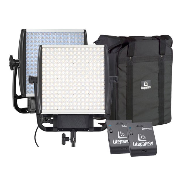 Litepanels Astra 4X Daylight & Bi-Color LED Panels with Two FREE Bluetooth Modules & FREE Dual Carrying Case