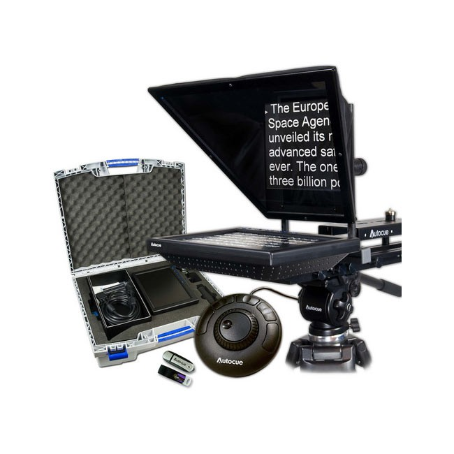 """Autocue 10"""" Prompter Package, QStart, Controller & Carry Case"""