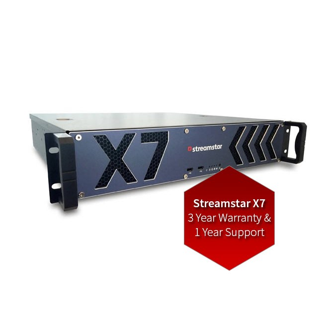 Streamstar X7 - 3 Year Warranty and 1 Year Support Upgrade