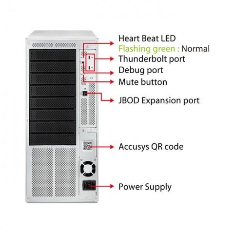Accusys Gamma 8 External Thunderbolt 8 Bay RAID System