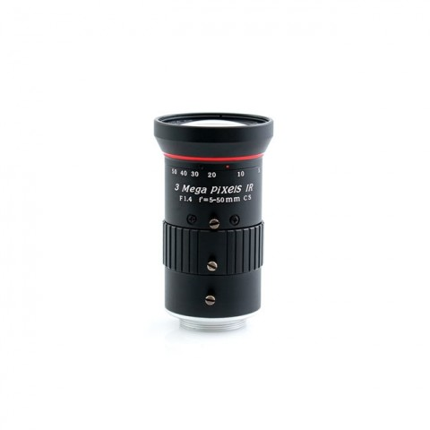 AIDA Imaging HD Varifocal 5.0-50mm Manual Iris CS Mount Lens