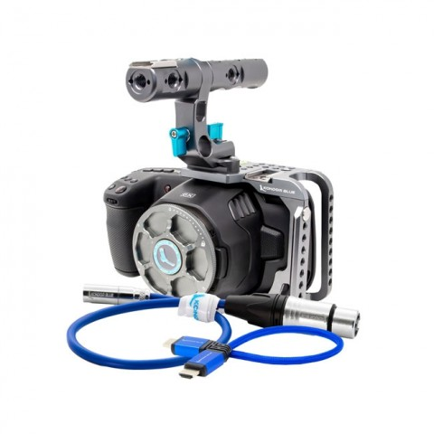 Blackmagic Design Pocket Cinema Camera 6K & Kondor Blue Half Cage Bundle