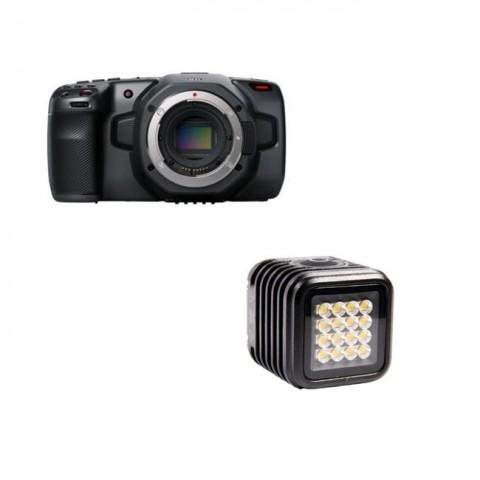 Blackmagic Design Pocket Cinema Camera 6K & Litra Torch 2.0 Kit