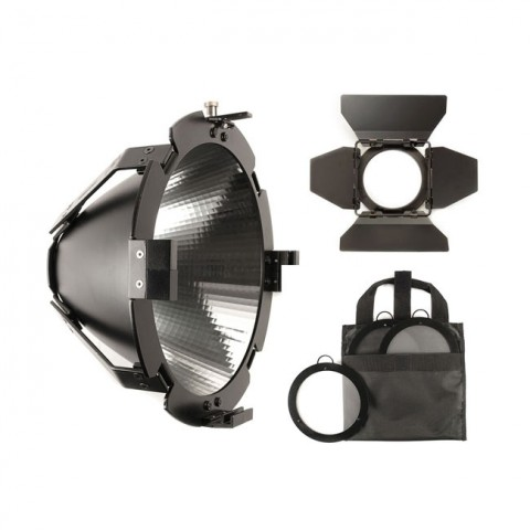Hive Lighting Super Spot Reflector Kit (Super Spot Reflector Attachment, 9.5'' Barndoors and 3 Lens Set (Medium, Wide, Super Wide) with Bag)