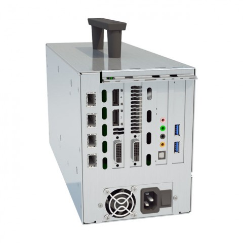 Cubix Xpander FiberNode (with 1 xcvr, AMD FirePro W4100, Audio, 2xUSB, HIC)