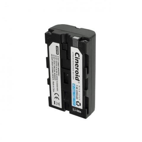 Cineroid NP-F550 type Li-Mn Battery (2200mA)