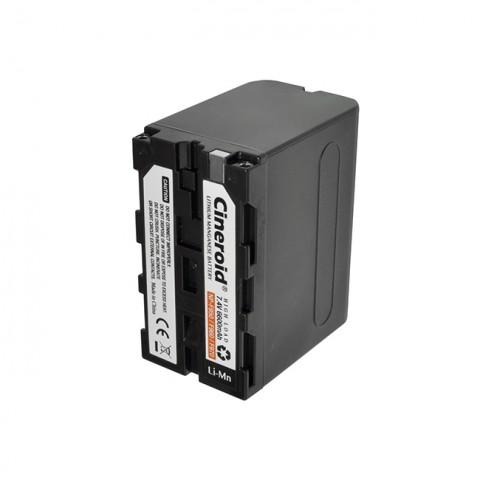 Cineroid NP-F950 type Li-Mn Battery (6600mA)